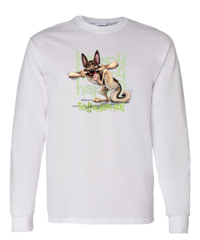 German Shepherd - 4 - Who's A Happy Dog - Long Sleeve T-Shirt