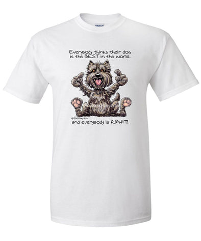 Cairn Terrier - Best Dog in the World - T-Shirt