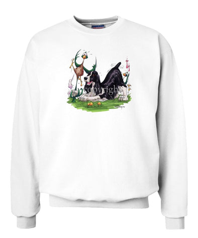 English Springer Spaniel - Pheasant By The Tail - Caricature - Sweatshirt