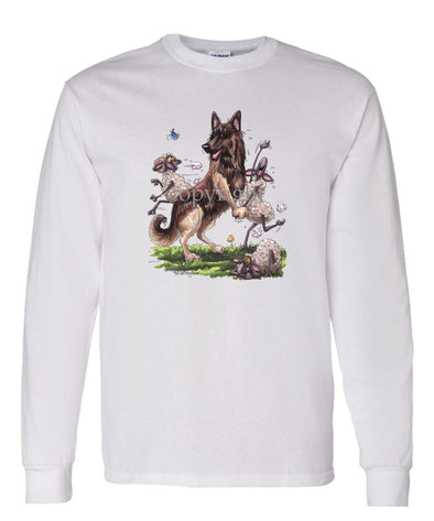 Belgian Tervuren - Dancing Sheep - Caricature - Long Sleeve T-Shirt