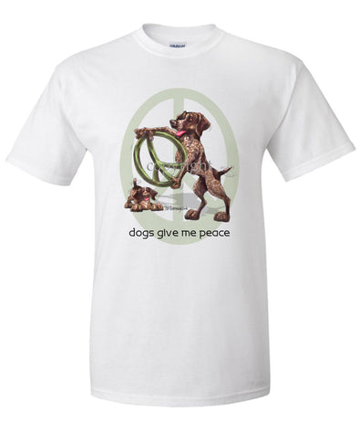 German Shorthaired Pointer - Peace Dogs - T-Shirt