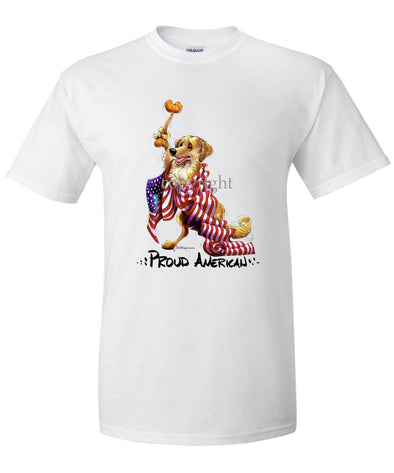 Golden Retriever - Proud American - T-Shirt