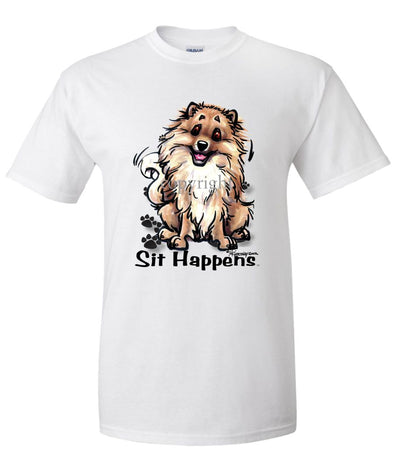 Pomeranian - Sit Happens - T-Shirt