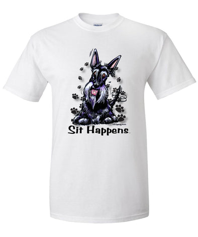 Scottish Terrier - Sit Happens - T-Shirt