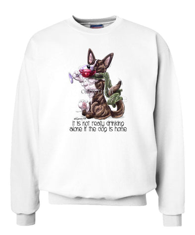 Welsh Corgi Cardigan - It's Not Drinking Alone - Sweatshirt
