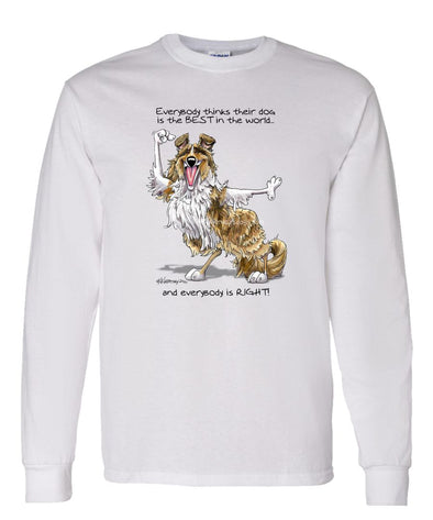 Collie - Best Dog in the World - Long Sleeve T-Shirt