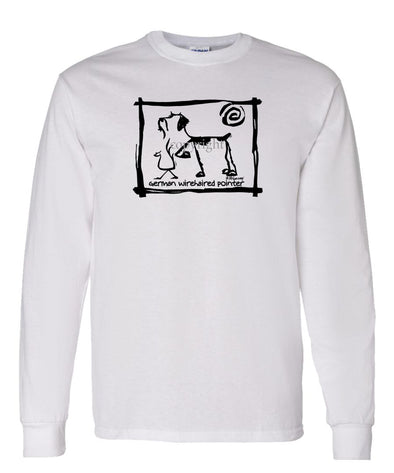 German Wirehaired Pointer - Cavern Canine - Long Sleeve T-Shirt