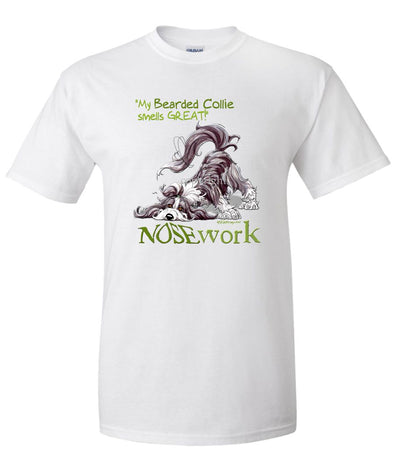 Bearded Collie - Nosework - T-Shirt