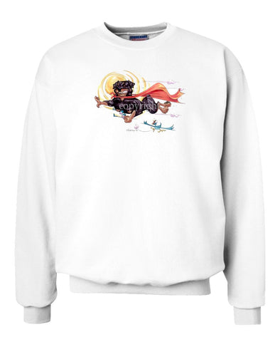 Rottweiler - Flying With Cape - Caricature - Sweatshirt