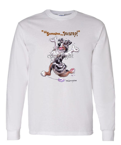 Australian Shepherd  Blue Merle - Treats - Long Sleeve T-Shirt