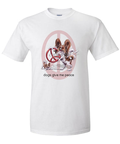 Papillon - Peace Dogs - T-Shirt