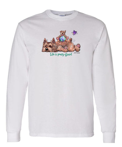 Norwich Terrier - Life Is Pretty Good - Long Sleeve T-Shirt