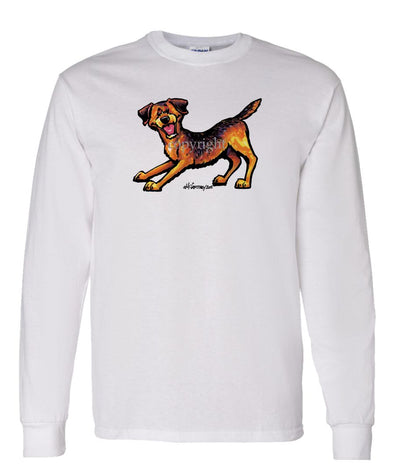 Border Terrier - Cool Dog - Long Sleeve T-Shirt