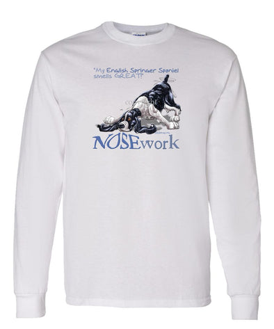 English Springer Spaniel - Nosework - Long Sleeve T-Shirt