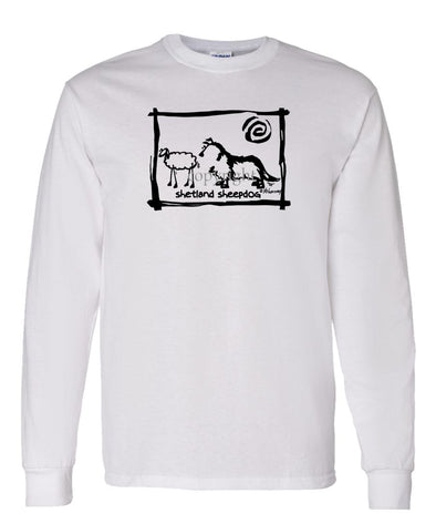 Shetland Sheepdog - Cavern Canine - Long Sleeve T-Shirt