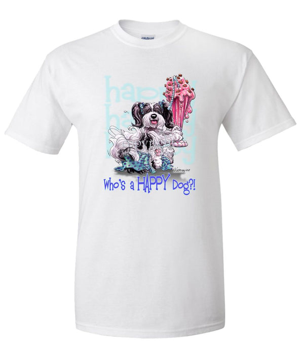 Havanese - Who's A Happy Dog - T-Shirt