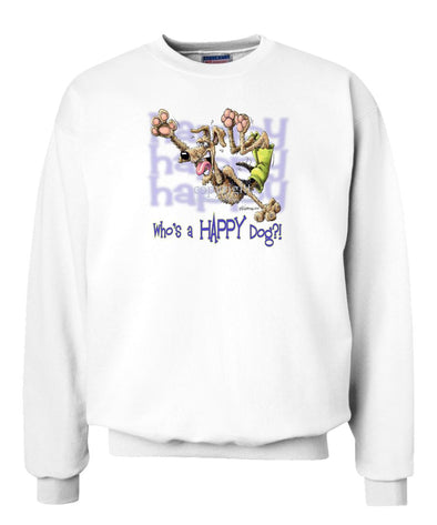 Airedale Terrier - Who's A Happy Dog - Sweatshirt