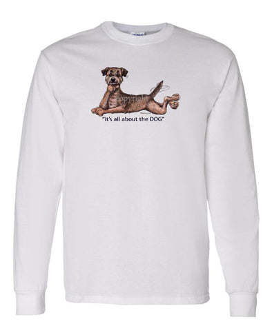 Border Terrier - All About The Dog - Long Sleeve T-Shirt