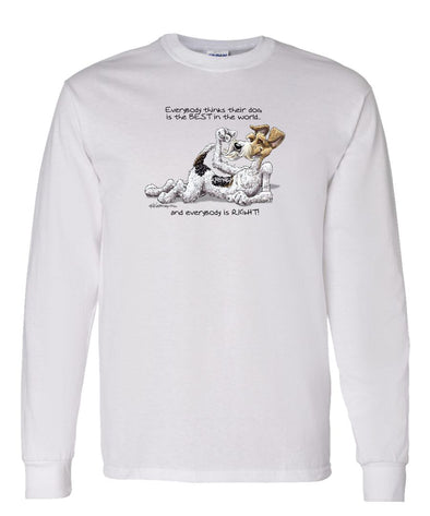 Wire Fox Terrier - Best Dog in the World - Long Sleeve T-Shirt