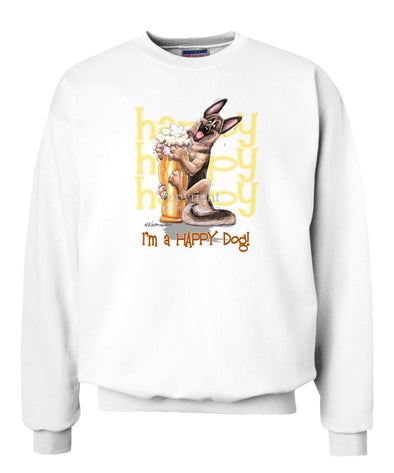 German Shepherd - 3 - Who's A Happy Dog - Sweatshirt