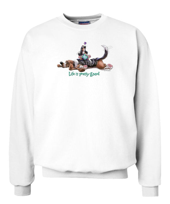 Basset Hound - Life Is Pretty Good - Sweatshirt