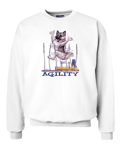 Norwegian Elkhound - Agility Weave II - Sweatshirt