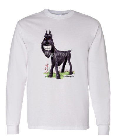 Giant Schnauzer - Toothy Grin - Caricature - Long Sleeve T-Shirt