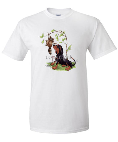 Black And Tan Coonhound - Caricature - T-Shirt