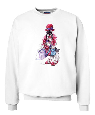 Schnauzer - Red Hat - Caricature - Sweatshirt