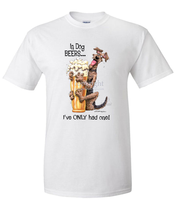 Airedale Terrier - Dog Beers - T-Shirt