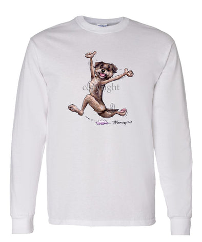 Border Terrier - Happy Dog - Long Sleeve T-Shirt
