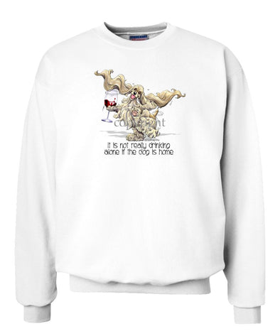 Cocker Spaniel - It's Drinking Alone 2 - Sweatshirt