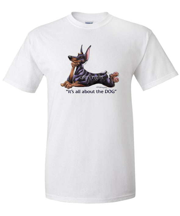 Doberman Pinscher - All About The Dog - T-Shirt