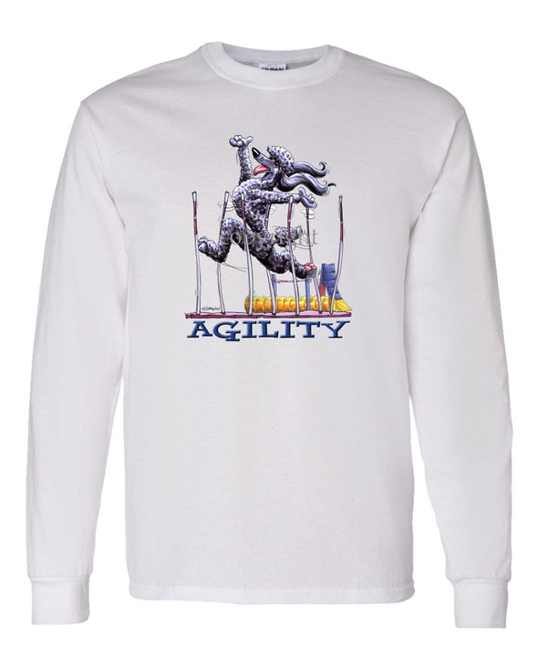 Poodle  Black - Agility Weave II - Long Sleeve T-Shirt