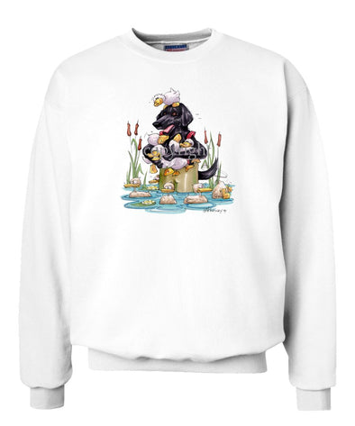 Flat Coated Retriever - Waders - Caricature - Sweatshirt