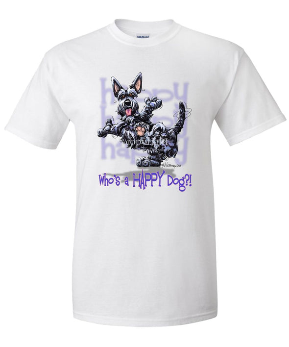 Scottish Terrier - Who's A Happy Dog - T-Shirt