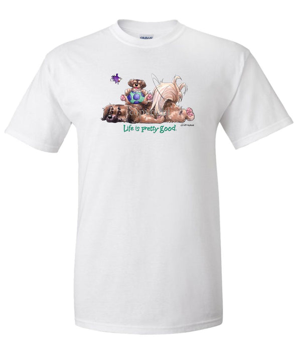 Tibetan Spaniel - Life Is Pretty Good - T-Shirt