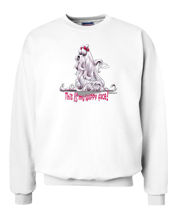 Maltese - Who's A Happy Dog - Sweatshirt