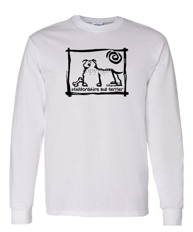 Staffordshire Bull Terrier - Cavern Canine - Long Sleeve T-Shirt