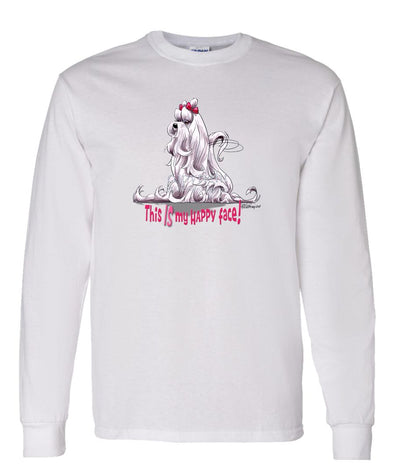 Maltese - Who's A Happy Dog - Long Sleeve T-Shirt