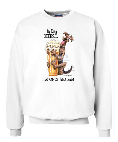 Airedale Terrier - Dog Beers - Sweatshirt