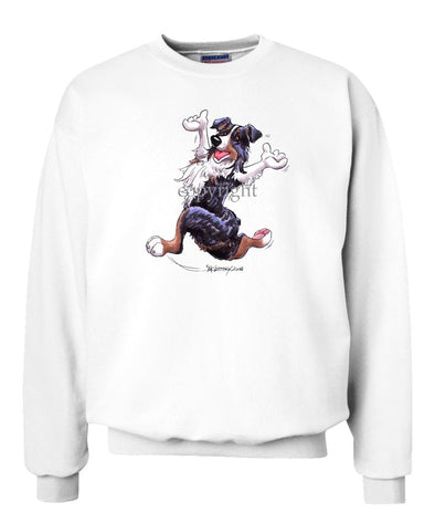 Australian Shepherd  Black Tri - Happy Dog - Sweatshirt