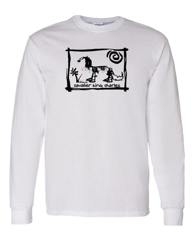 Cavalier King Charles - Cavern Canine - Long Sleeve T-Shirt