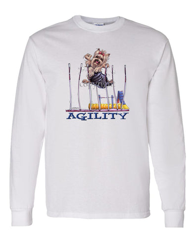Yorkshire Terrier - Agility Weave II - Long Sleeve T-Shirt