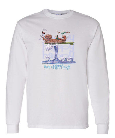 Nova Scotia Duck Tolling Retriever - Who's A Happy Dog - Long Sleeve T-Shirt