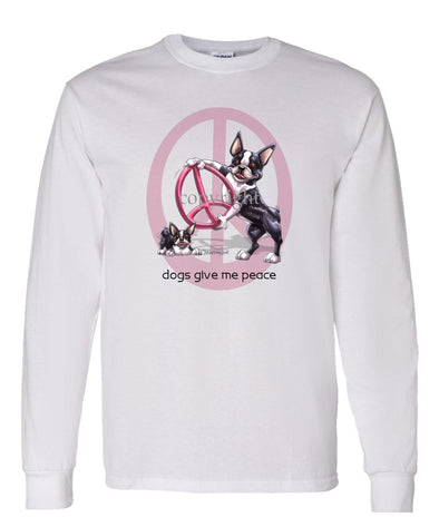 Boston Terrier - Peace Dogs - Long Sleeve T-Shirt