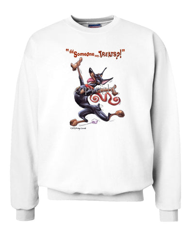 Doberman Pinscher - Treats - Sweatshirt