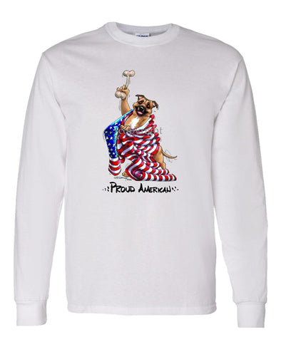Staffordshire Bull Terrier - Proud American - Long Sleeve T-Shirt