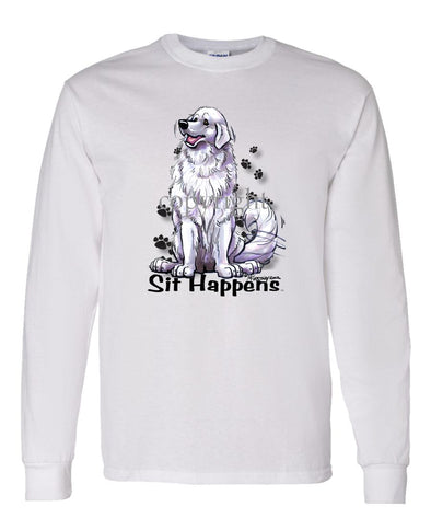 Great Pyrenees - Sit Happens - Long Sleeve T-Shirt
