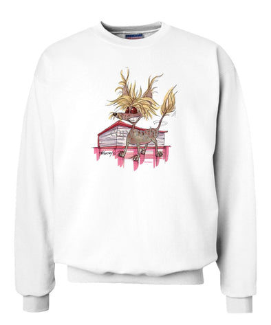 Chinese Crested - Vintage - Caricature - Sweatshirt
